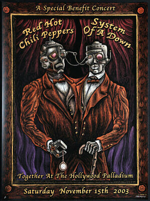 $249.99 • Buy Rare Emek 2003 Concert Poster - Red Hot Chili Peppers System Of A Down Metallica