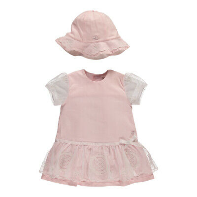 £12.50 • Buy Emile Et Rose Baby Girl Pink Party Lace Dress With Matching Hat - Honey 6282