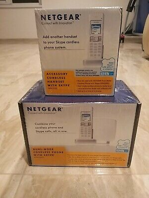 NETGEAR Dual Mode Cordless Phone With Skype(SPH200D)+(SPH150D) NEW And SEALED • 119£
