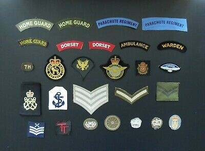 £2 • Buy Military Cloth Badges: Army, Air Force, Navy, Civil Defence - Sold Individually