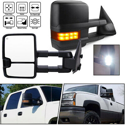 $159.95 • Buy Pair Tow Mirrors For 03-06 Chevy Silverado Power Heated LED Turn Signals Backup