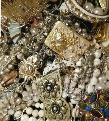 $ CDN41.41 • Buy Jewelry Vintage-Modern Huge  Lot Craft, Junk, Restore🌷Over TWO Full Pound LBS🌻