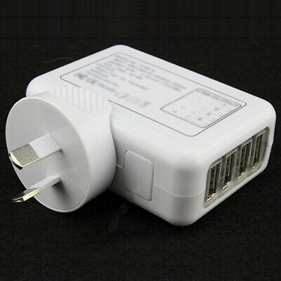 AU15.71 • Buy Durable 5V 2.1A 10W 4 Port USB Travel Home Wall Charger AC Adapter AU Plug