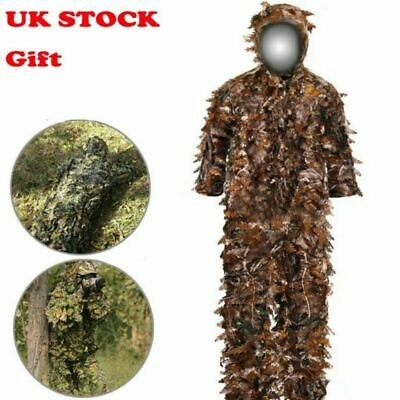 Gillie Suit Adult 3D Woodland Camo Camouflage Hunting Outdoor Sport Games New • 26.92£