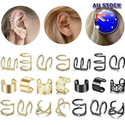 AU5.45 • Buy Wholesale Fake Helix Hoop Earrings Ear Cuff Cartilage Ring Clip On Non Piercing