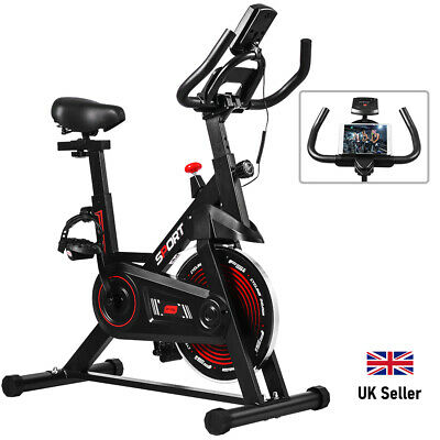 ONETWOFIT Spinning Exercise Bike Flywheel Indoor Workout Fitness LCD Monitor • 157.98£