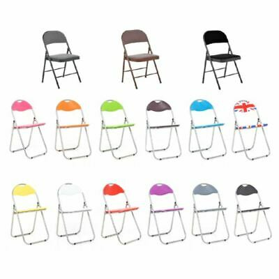 £94.95 • Buy Foldable Desk Chairs Padded Comfortable Seat Office Easy Storage Backrest Modern