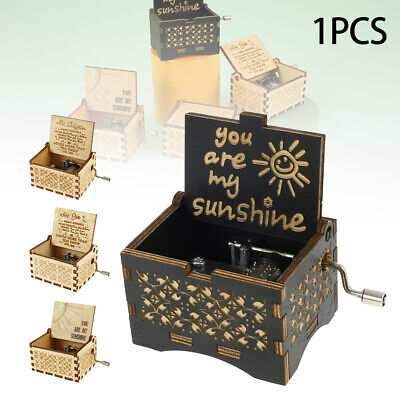 £4.99 • Buy You Are My Sunshine Wooden Engraved Music Box Gift Mom/Dad To Daughter/Son UK
