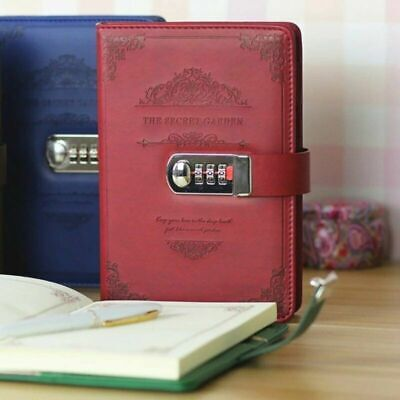 £11.99 • Buy Newest Notebook With Lock Diary Retro Password Book Diary Journal Lockable A5