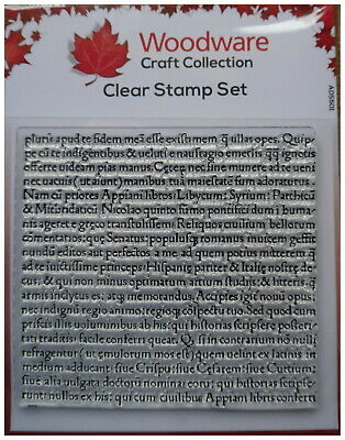 £4.65 • Buy Woodware Clear Acrylic Stamp LATIN SCRIPT Background