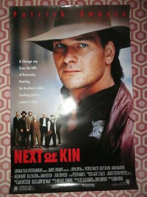 £14.99 • Buy  Next Of Kin One Sheet Rolled Poster Patrick Swayze 1989