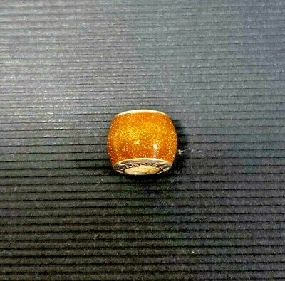 £9.99 • Buy Vintage Amore & Baci Gold Glitter Enamel Spacer Charm #46 Great Condition