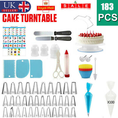 £15.90 • Buy Cake Decorating Kit Turntable Rotating Baking Flower Icing Piping Nozzles Tool