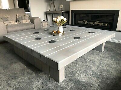 £494.95 • Buy Contemporary Modern Grey Oak Sleeper Square Coffee Table - Multiple Sizes - Home