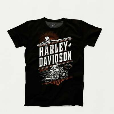 Ride Free Harley Davidson T-Shirt - Can Be Personalised • 11.24£