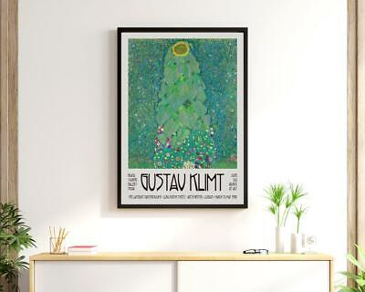 $ CDN23.41 • Buy Gustav Klimt Exhibition Poster - Museum Quality Print - Sunflower Painting Gift