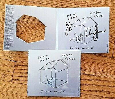 AU20.92 • Buy Ariana Grande & Justin Bieber Stuck With U Autographed Signed CD Cover NEW