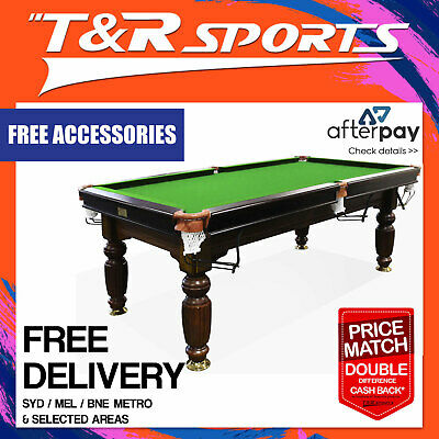 AU1259.99 • Buy 2017 Model 7ft Walnut Green Pool Snooker Billiards Table Slate + Accessories