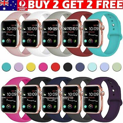 AU7.99 • Buy For Apple Watch Series 6 SE 5 3 4 38/40/42/44mm Soft SILICONE Sport Strap Band