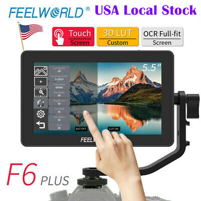 AU191.92 • Buy Feelworld F6 PLUS Monitor 5.5  Touch Screen 3D LUT 4K HDMI Video Camera Monitor