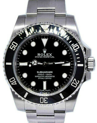 $ CDN13587.29 • Buy Rolex Submariner No Date Steel Black Ceramic Watch Box/Papers '16 114060