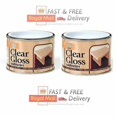 £7.95 • Buy 2 X Clear Gloss Varnish Wood Indoor Outdoor Paint Finish Interior Exterior 180ml