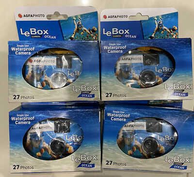 £34.99 • Buy 4x AGFA AgfaPhoto Le Box Ocean Disposable Single Use Underwater Camera Rrp £60