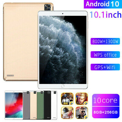 AU115.08 • Buy 10.1  Ultra-thin 4G Tablet PC 8+256GB Android 10.0 WIFI Dual SIM Triple Camera