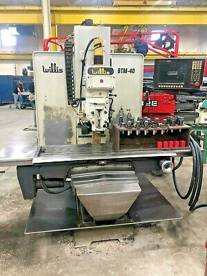 $10900 • Buy Willis BTM-40 CNC Vertical Bed Mill Milling Machine With Anilam 3000m Control