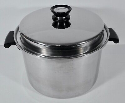 $ CDN143.73 • Buy Amway Queen 8qt 18/8 Multiply Stainless Steel Covered Stock Pot Dutch Oven