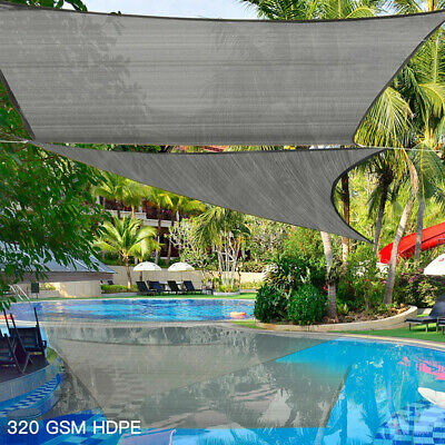 AU106.57 • Buy Extra Heavy Duty Sun Shade Sail 320gsm Square Rectangle Triangle Grey  #