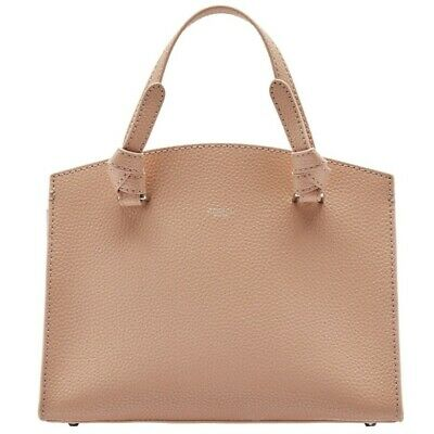 AU160 • Buy NEW With Tag, Oroton Atlas Small Day Bag, Biscuit Pebble Leather