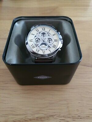 View Details Fossil Grant Automatic Brown Leather Watch ME3027 • 54.00£