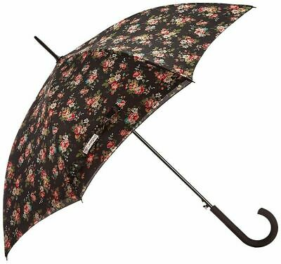 Cath Kidston Kingswood Rose Charcoal Auto Open Bloomsbury Umbrella Double Lining • 25£