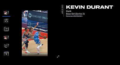 $1460.81 • Buy 🏀 NBA Top Shot 🏀 Kevin Durant Low Serial 53 / 35000 Dunk Series 2 - Invest NFT