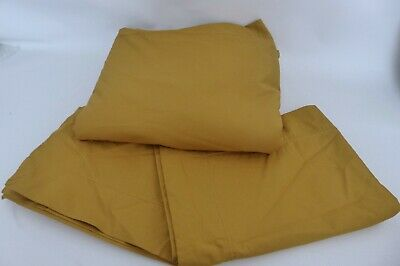 AU81.14 • Buy John Lewis Egyptian Cotton Duvet Cover & Pillowcase Set Mustard Yellow King