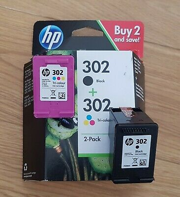 HP 302 Back And Tri-Colour 2 Pack Printer Cartridges - Opened But Not Used • 21£