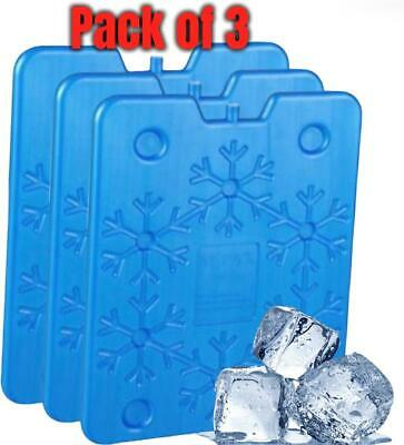 £10.99 • Buy Fusion 3 Pack Of Reusable Large Ice Packs/Freezer Block For Camping Cool Bag/Box