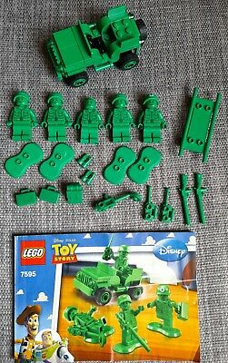 Lego Toy Story 7595 Army Men Toy Soldiers Army Jeep 100% Complete + Extras • 22£