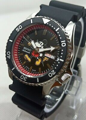 $ CDN156.91 • Buy Seiko Mickey Mouse Cal 4R36A Custom Mod Scuba Diver's Automatic Men Watch.