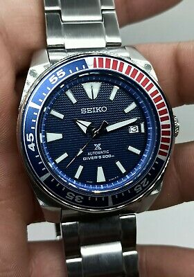 $ CDN169.46 • Buy Seiko Blue Samurai Custom Mod 4R35A Day Date Diver's Automatic Men's Watch 8875.