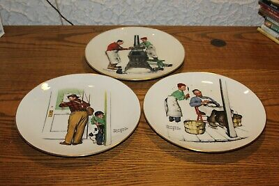 $ CDN18.83 • Buy Norman Rockwell Four Seasons Collector Plates 1979 Lot