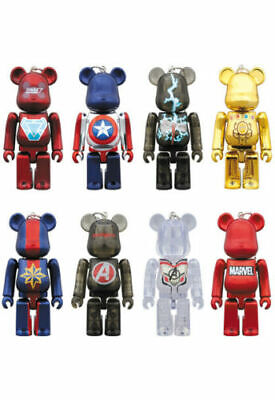 $135 • Buy BE@RBRICK 100% MARVEL AVENGERS END GAME Complete Set Lot Of 8 Rare Bearbrick