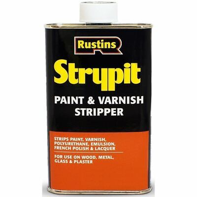 £8.85 • Buy Rustins Strypit Paint & Varnish Remover Stripper 250ml Wood Metal Glass Stone