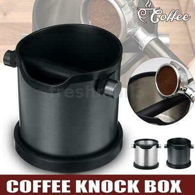 AU28.97 • Buy 1.8L Coffee Knock Box Espresso Grind Container Stainless Steel Bin Anti-Slip Pad