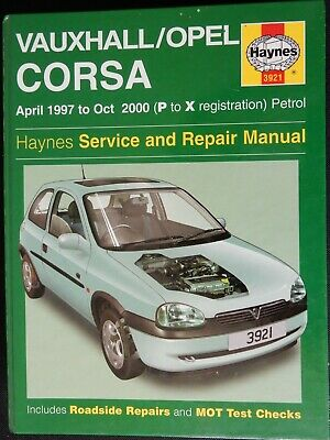 VAUXHALL CORSA Haynes Service And Repair Manual 1997 To 2000 Petrol Models • 2£