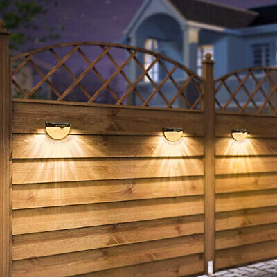 £14.99 • Buy 4 Pack Solar Fence Post Light Wall Mount Deck Fence Outdoor Garden Lighting Lamp