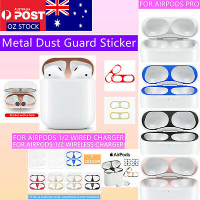 AU5.95 • Buy For Airpods 1/2 For Airpods Pro Dust Guard Protector Metal Dust-Proof Sticker