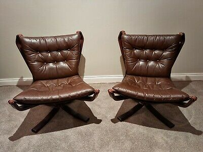 AU3000 • Buy Set Of 2 Scandanavian Mid Century Falcon Chairs By Sigurd Ressell.