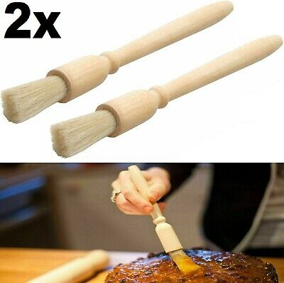 £3.29 • Buy Wooden Pastry Brush Baking Basting,dust,glazing Cooking Bristle
